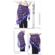 Sweet Shinning purple Belly Dance Hip Scarves images