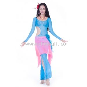 Mixed Color Tulle Belly Dance Practice Costumes
