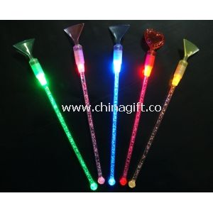 Beautiful Flashing Cup blue / green Mixing stirrer with Acryl Material