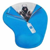 Blue Non-Heated Skidproof Lycra Cloth + Soft Gel + PU gift Gel Mouse Pads images