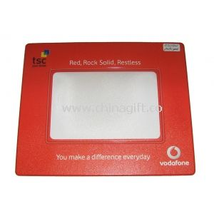 Vodafone Promotion Anti Slip Personalized Photo Mouse Pads With Red Frame
