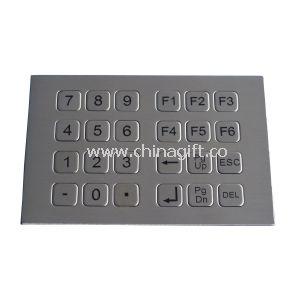 24 flat keys top panel mounting industrial metal numeric keypad