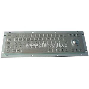 Hygienic ultrathin metal short stroke keyboard with trackball