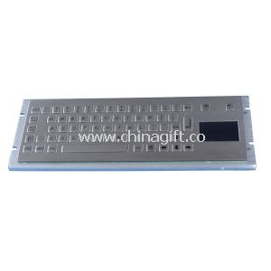 Industrial PC Keyboard with ruggedized touchpad