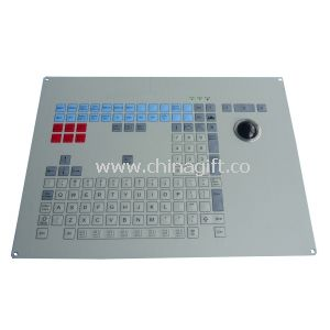 Vandal Proof Industrial Membrane Keyboard With Mechanical Trackball