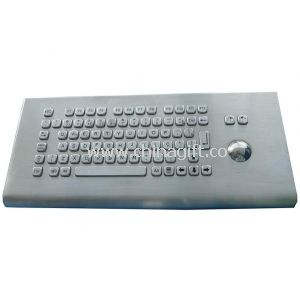Desk Top Waterproof Industrial PC Keyboard With Trackball