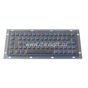 Illuminated patent industrial pc keyboard 64keys
