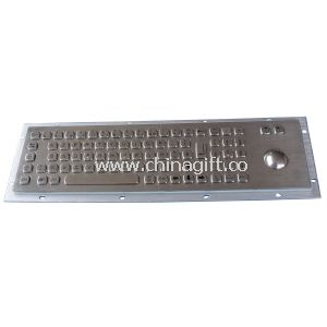 Long stroke industrial pc keyboard with trackball and numeric keypads