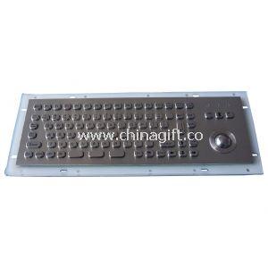 MINI 81 keys metal Industrial PC Keyboard with trackball