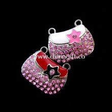 High speed usb 2.0 bag shape jewelry usb flash drive 128gb with USB-HDD mode images