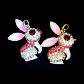 USB Version 2.0 Rabbit Shape Jewelry USB Flash Drive 8GB With Reading At 10Mbps images