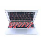 Black Red Silicone Laptop Keyboard Protective Film images