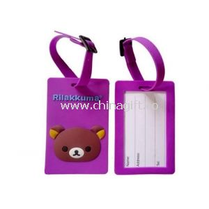 Purple Photo Silicone Luggage Tag