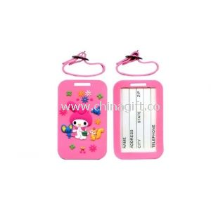Rabbit Silicone Personalized ID Luggage Tags For Kids