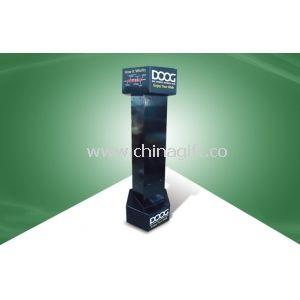 100% Eco - friendly Black Six - side - show Cardboard Hook Display with UV Coating