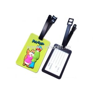 Kids Embossed PVC Photo Luggage Tags For Traveling