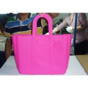 Pink Skull Top Handle Silicone Handbag Shopping Tote images
