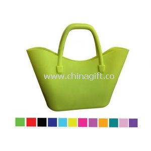 Yellow Big Silicone Handbag