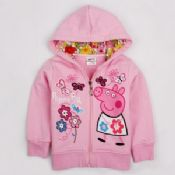 New 2014 100% cotton baby girls kids jackets coats outwear peppa pig Hoodies images