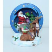 Attractive design santa claus and chritmas decor Water/Snow Globes with musical stand images