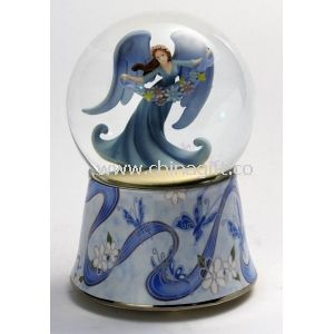 Water/Snow Globes music boxes with angel in the ball