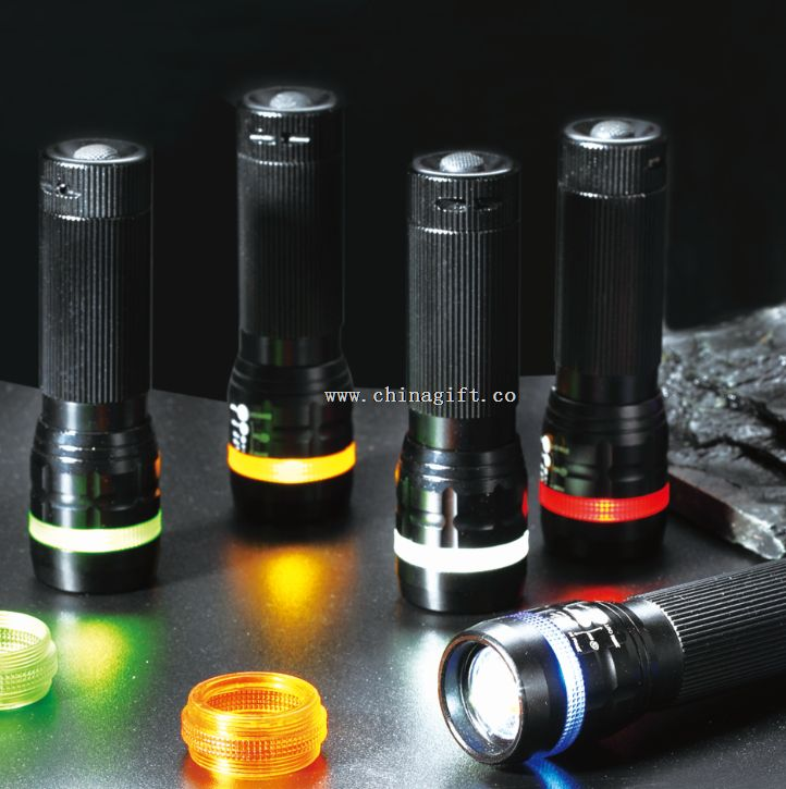 colorful ring led flashlight