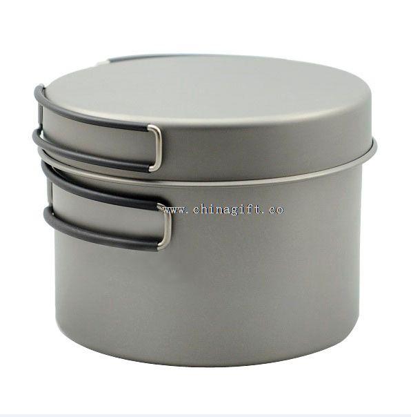 1300ml elegant titanium cookware set
