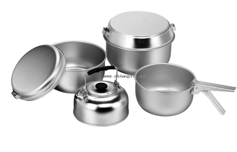 7pcs outdoor anodized aluminum jumbo cookware set