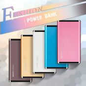Fashion aluminum power bank 4000mah 8000mah flashlight images