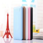 Leather material ultra thin portable power bank 8000mah images