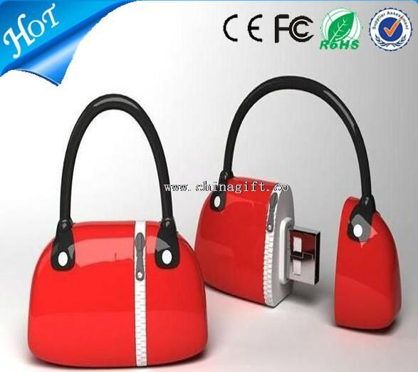 Handbags pvc custom usb flash drives