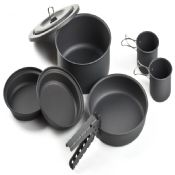8PCS hard anodized liberty cook set with cups images