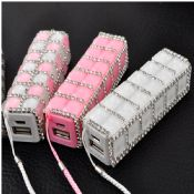 2600mAh Bling Colorful External Battery Power Bank images