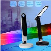 3-levels eye-protect rechargeable battery portable folding LED table lamp images