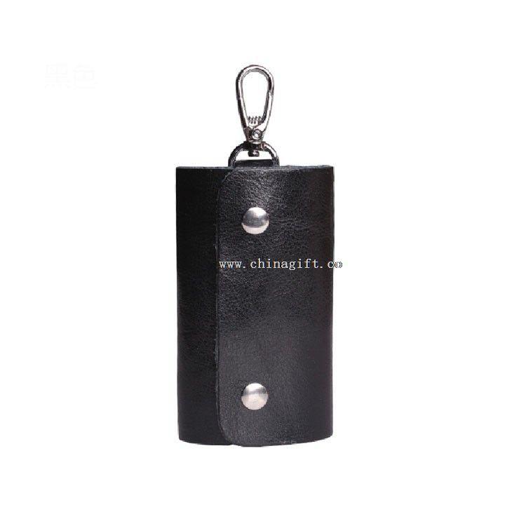 Charming leather car key cover key case men leather key case