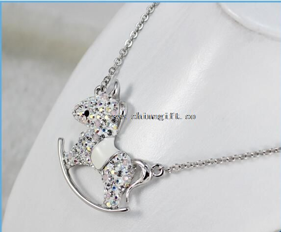 Chinese Zodiac Horse Rhinestone Necklace for Birthday Gifts