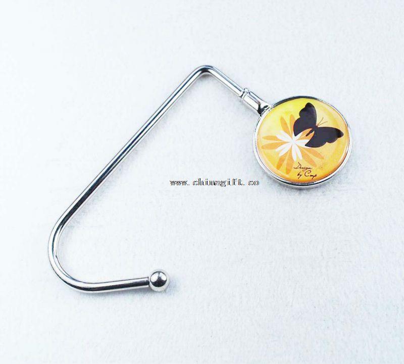 Cute sticker metal hooks for bags