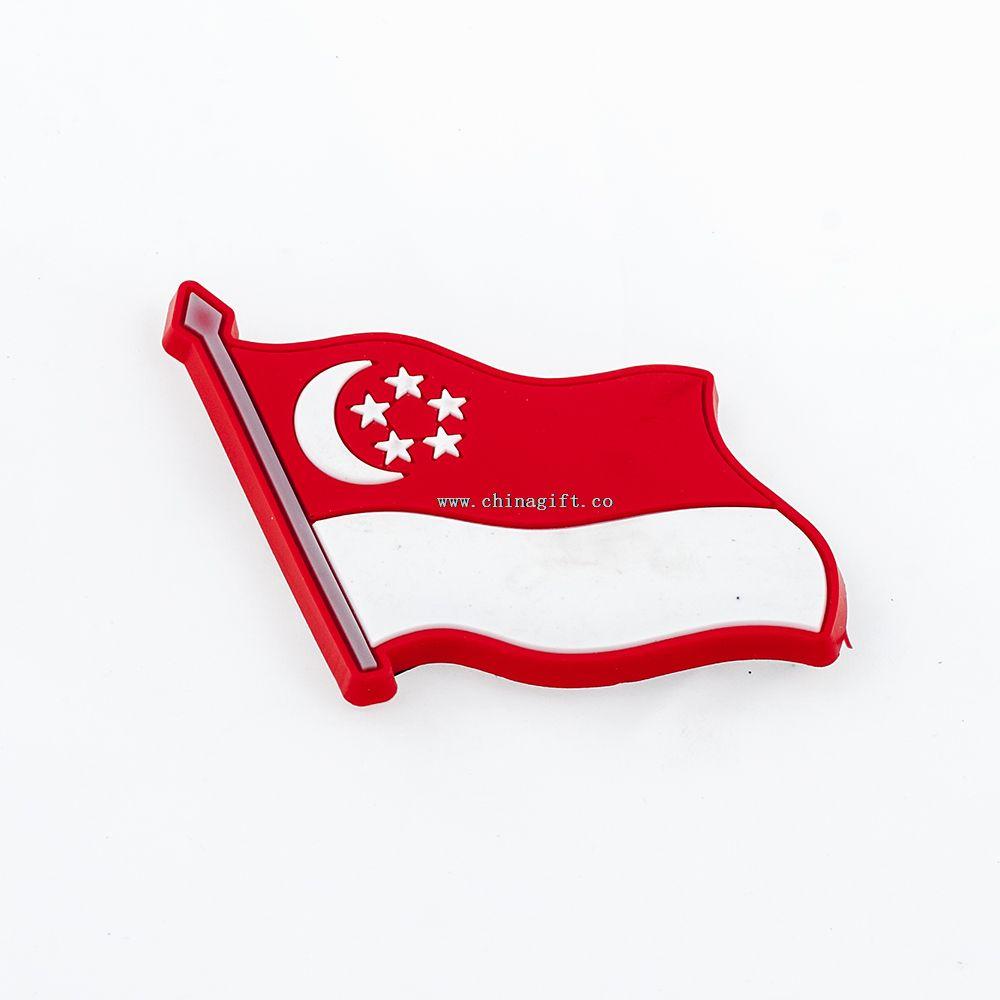 Factory direct sale custom soft pvc Turkey flag fridge magnet souvenir