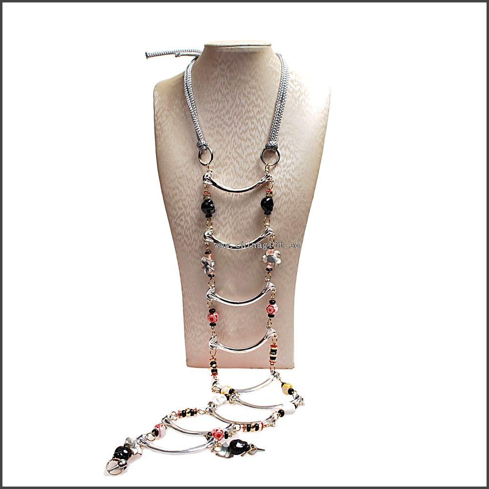 Fashion double row jewelry necklace