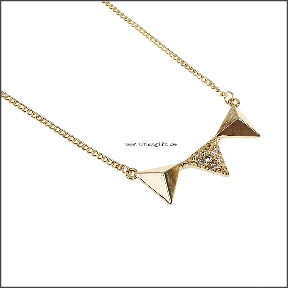Fashion golden rhombus necklace