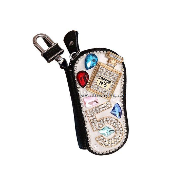 Genuine leather wallet little bear car case key holder