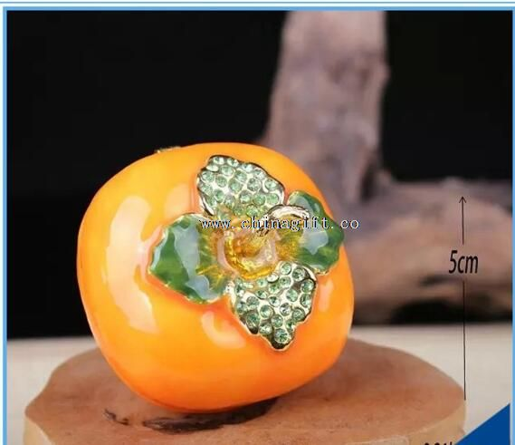 Lovely Home Decorative Box Ring Holder Box Persimmon Trinket Box