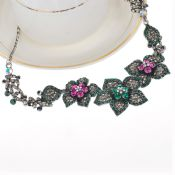 2016 fashion restoration chain diamond flower necklace images