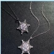 2016 New Desgin Snow Shape Zircon Pendant Necklace for Girlfriend Gift images