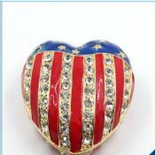 2016 New Heart Shape Pewter Gift Box Jewelry Box Trinket Box images