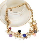 Fashion colorful pearl bead smart necklace images