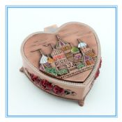 Fashion Heart EU design Metal luxurious wedding gift box wedding cake box images