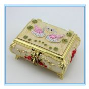 Gold plating wedding gifts swan design with diamond velvet jewelry display box for necklace images