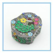 Metal colorful peacock design marble jewelry box chinese manufacturer jewelry box images