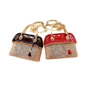 New rhinestone keychain handbags ladies images